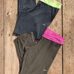 2 Nike Dri Fit Leggings